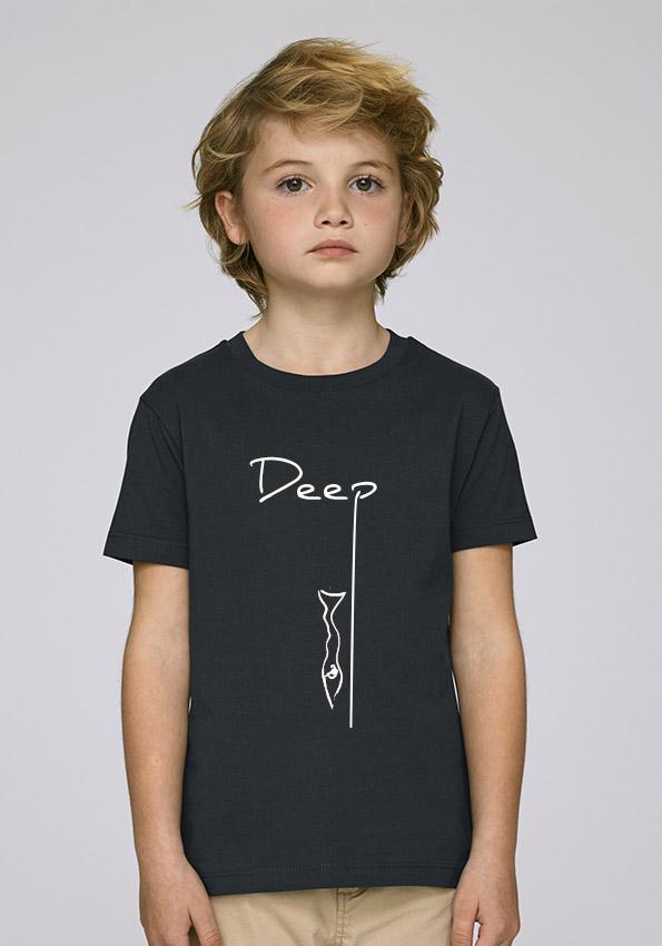 a44437f6558c6 Tee-shirt noir et mixte pour enfants avec le motif Deep - Diving Reflex